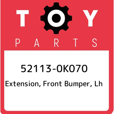 LH 52113-0K070 521130K070 Genuine Toyota EXTENSION FRONT BUMPER