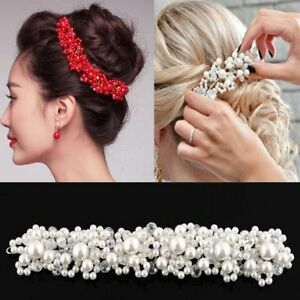 Handmade-Jewelry-Pearl-Headband-Wedding-Bridal-Crystal-Hairband-Hair-Clip