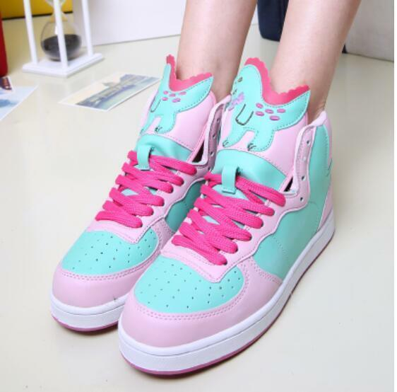 Womens Sneakers Trainers New Harajuku Cartoon Kawaii Lolita Walking Sport shoes