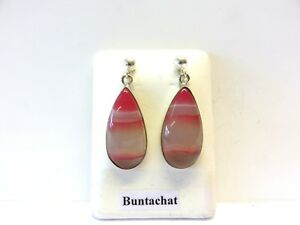 Bunt-Achat-Ohrhaenger-Agate-Earrings-925-Silber-Nr-E7761