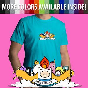 Adventure-Time-Cartoon-Mathematical-Finn-Jake-Unisex-Mens-Tee-Crew-Neck-T-Shirt
