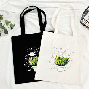 Casual-Plant-Pot-Printed-Women-Canvas-Shoulder-Bags-Shopping-School-Handbag-T