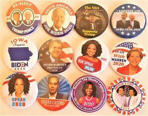 12-2020-Wahlkampf-Buttons-Trump-Biden-Warren-Michelle-Obama-mehr-Satz-QQ