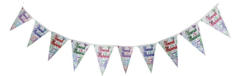 Eid Mubarak Ramadan Holiday Decorative Home Party Islamic EID Bunting Banners