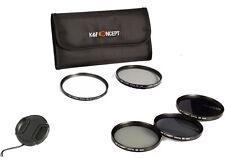 77mm UV Filter + CPL + ND2 ND4 ND8 Graufilter Polfilter Objektivdeckel Filterset