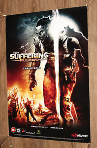 The-Suffering-Ties-That-Bind-very-rare-Promo-Poster-60x42cm-Playstation-2-Xbox