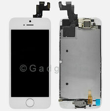 White LCD Screen Display + Touch Screen Digitizer + Button Camera for Iphone 5S