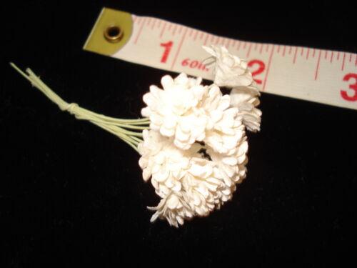 "Miniature Flowers 10 Large White Mums 3//8/"""