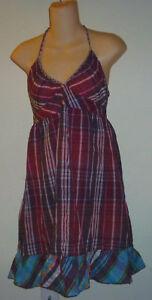 Womens-AEROPOSTALE-Plaid-Halter-Top-Dress-size-M-NWT-7654