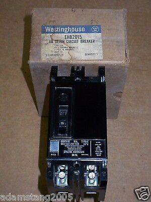 Westinghouse EHB2015 De-ion Circuit Breaker 15A 2-pole