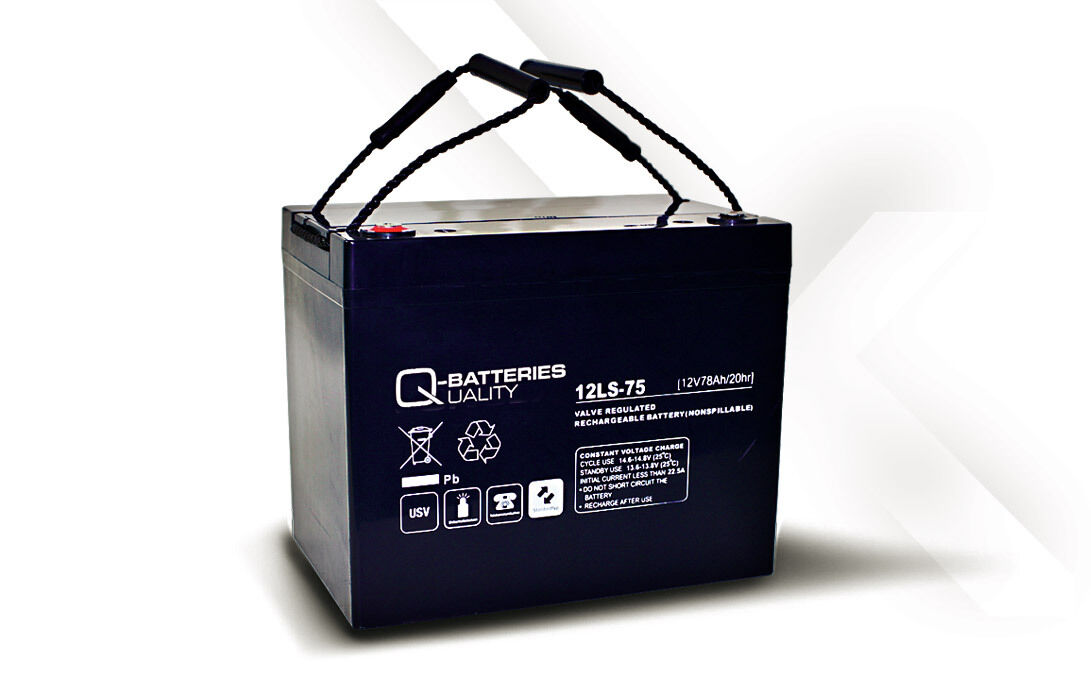 Akku Batterie Q-Batteries 78Ah 12V AGM 12LS-75 für USV Security IT Alarm