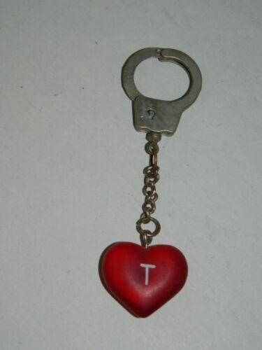 Portachiave Cuore con iniziale San Valentino idea regalo amore G189