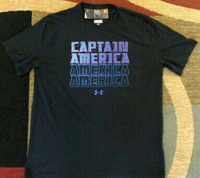 Under Armour Captain America Size XL Men's  T-Shirt Loose Fit 1326192 001