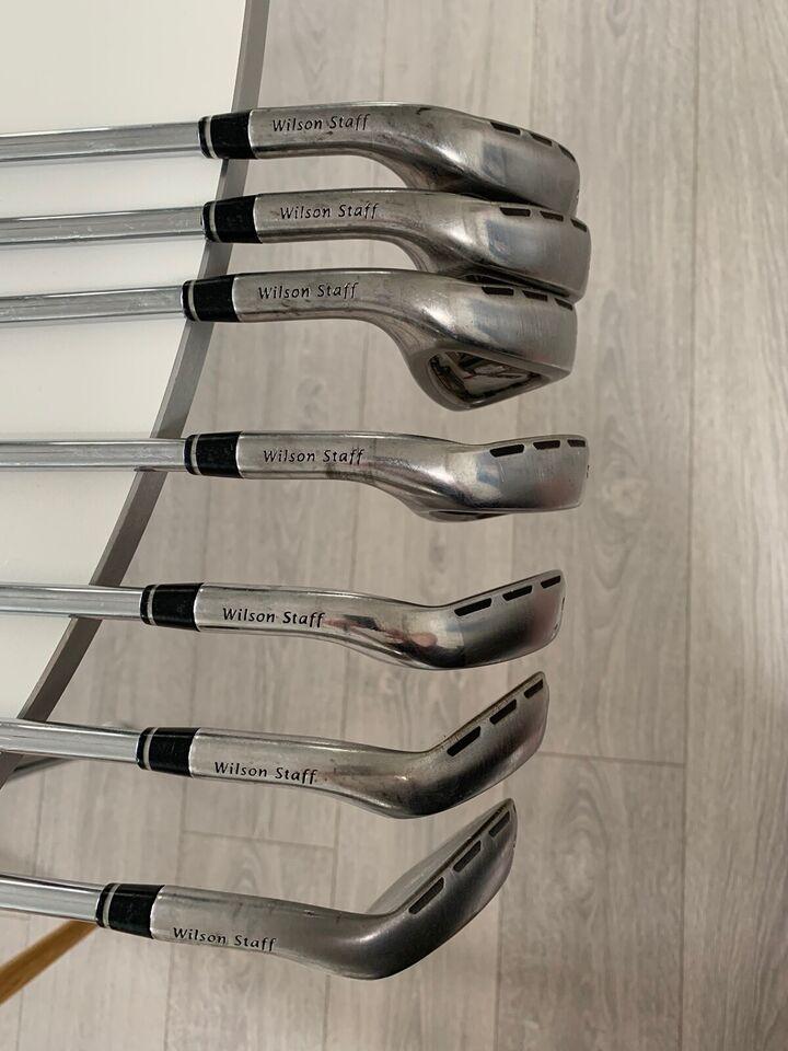 Stål golfjern, venstrehånds, Wilson Staff C200 (5-P+G)