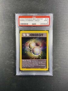 Pokemon Neo Destiny MIRACLE ENERGY PSA 9 Unlimited 16/105 2001 Mint