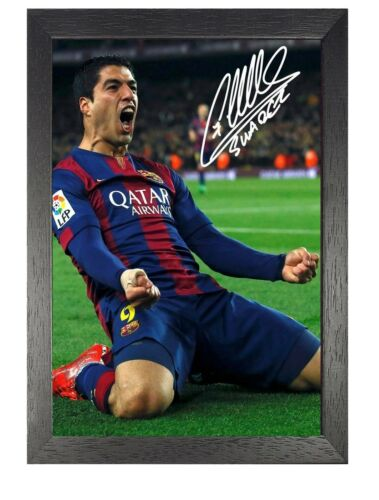 Luis Suarez 8 Sport Motivational and Inspirational Poster Football Signed Photo