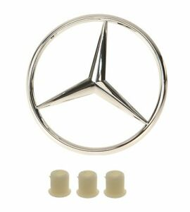 For Mercedes W124 W201 GENUINE//VAICO Trunk Star Emblem w// 3 Fastener Grommet NEW