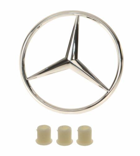 For Mercedes W124 W201 GENUINE//VAICO Trunk Star Emblem w// 3 Fastener Grommet NEW