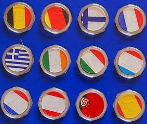 1 Euro Münze Länder Zur Auswahl Mit Farbe Farbapplikation