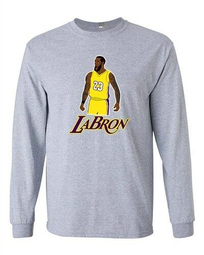 Long Sleeve Adult T-Shirt Labron The Look Lebron 23 Los Angeles Basketball DT