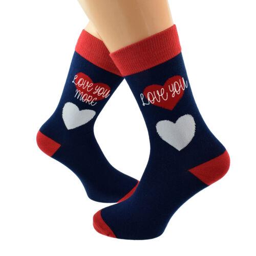 2 Paires de Love You Love You More Chaussettes pour un couple d/'amoureux X6S242-004