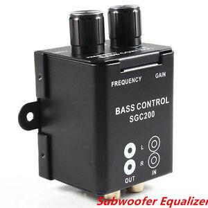 Details about 1P Car Home RCA Adjust Line Level Volume Amplifier Subwoofer  Equalizer Crossover
