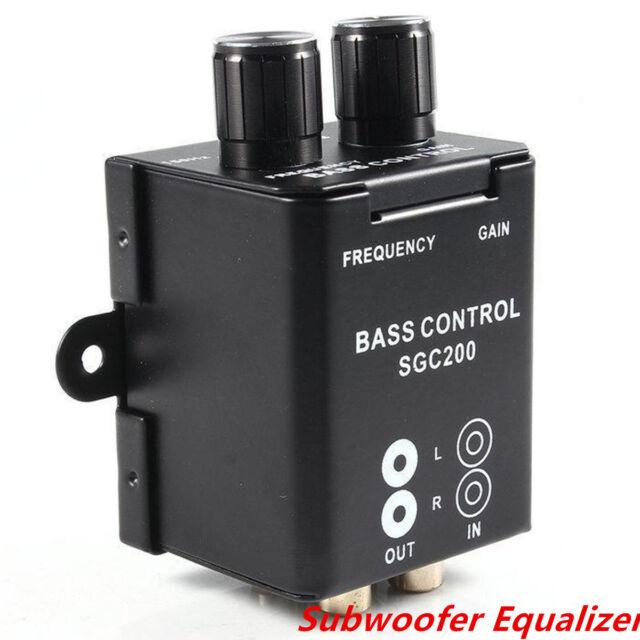 Car Home Amplifier Subwoofer Equalizer Crossover RCA Adjust Line Level Volume