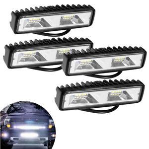 4x-LED-Zusatzscheinwerfer-Arbeitsscheinwerfer-Scheinwerfer-Lampe-Offroad-SUV-LKW