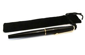 MONTBLANC-420-FOUNTAIN-PEN-IN-BLACK-WITH-GOLD-TRIM-amp-14K-GOLD-EF-SIZE-NIB