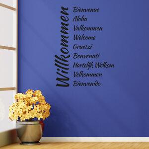 Wandtattoo-Herzlich-Willkommen-10-Sprachen-Aufkleber-Wall-Wand-Tattoo-2090