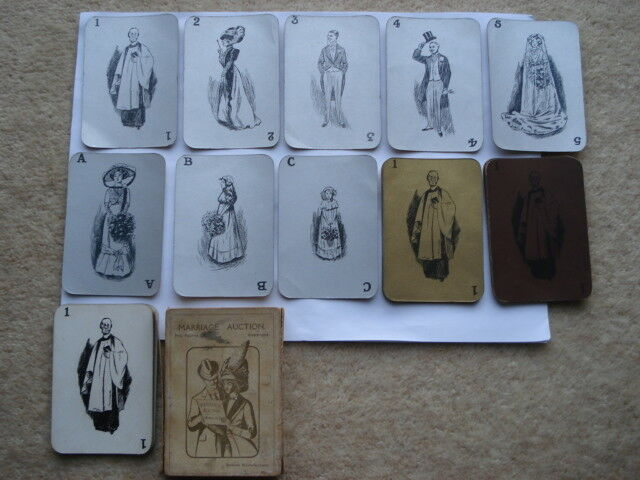 SCARCE C1910 VINTAGE MARRIAGE AUCTION/THE BRIDE CARD GAME