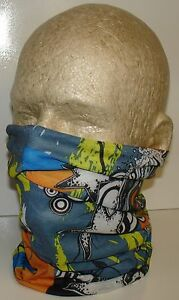 White Shooting Stars Tubular Multi Function Headwear Scarf Balaclava Beanie Cap