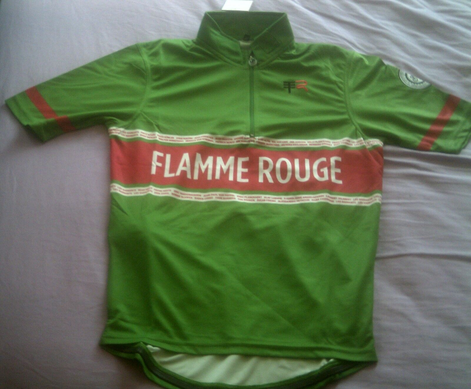 FLAMME red CYCLING ROAD JERSEY