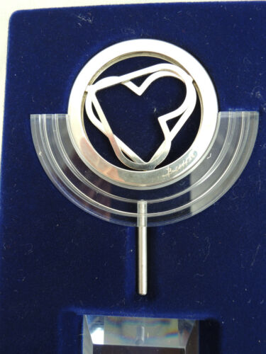 """CASE ISRAEL 1990 /""""AS ONE HEART/"""" Kinetic Art Medal by N Basson 50mm SILVER"""