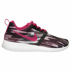 buy popular fcdd9 cc596 Details about 705486-001 New Grade School Nike Roshe One Flight Weight  Black White Camo 4.5 7Y