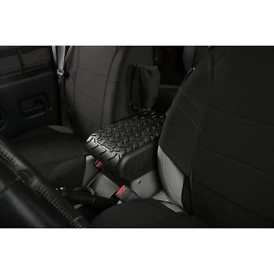 Rugged Ridge Center Console Arm Rest Cover Black 11-17 Jeep Wrangler JK