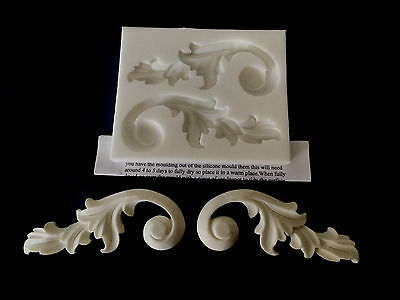 SILICONE RUBBER MOULD GEORGIAN SCROLLS FURNITURE MOULDINGS