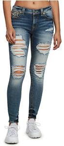 True-Religion-Women-039-s-Jennie-Big-T-Curvy-Skinny-Fit-Stretch-Jeans-w-Rips