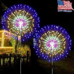 150 LED Solar Firework Lights Waterproof Outdoor Path Lawn Garden Decor Lamp