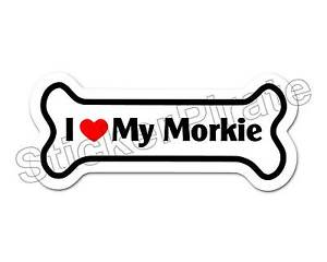 Dog-Bone-Magnet-I-Love-My-Morkie-Car-Truck-Locker