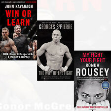 Win or Learn, My Fight Your Fight 3 books Set Collection Way of the Fight New PB