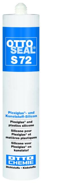 Ottoseal S72 20x310ml Transparente Plexiglás Silicona