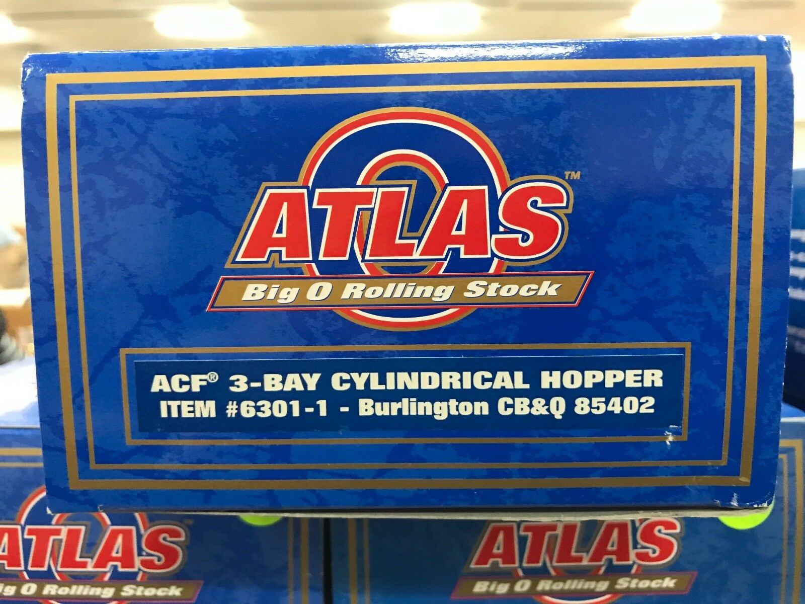 Atlas O  6301-1 Burlington CB&Q ACF 3-Bay Cylindrical Hopper Hopper Hopper 85402 - 3RL- NIB a42635