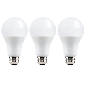 3PK Vivitar 60W 800L E27 Smart Soft White LED Light Bulb Dimmable WiFi Control