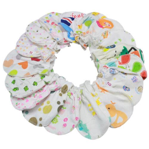 5 Pairs Cotton Socks Gloves Baby Boy Girl Infant Anti Scratch Soft Mittens UK
