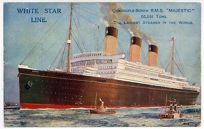 #php.02635 Photo RMS MAJESTIC WHITE STAR LINE PAQUEBOT OCEAN LINER