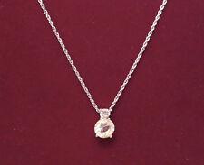 """Vintage Swan Signed Swarovski Pendant Adjustable Necklace 16"""" - 18"""""""