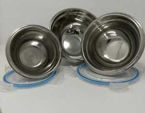 Set-Of-3-Stainless-Steel-Metal-Lock-Top-Bowls-Mixing-Bowl-Caterer-Salad-Spaghett