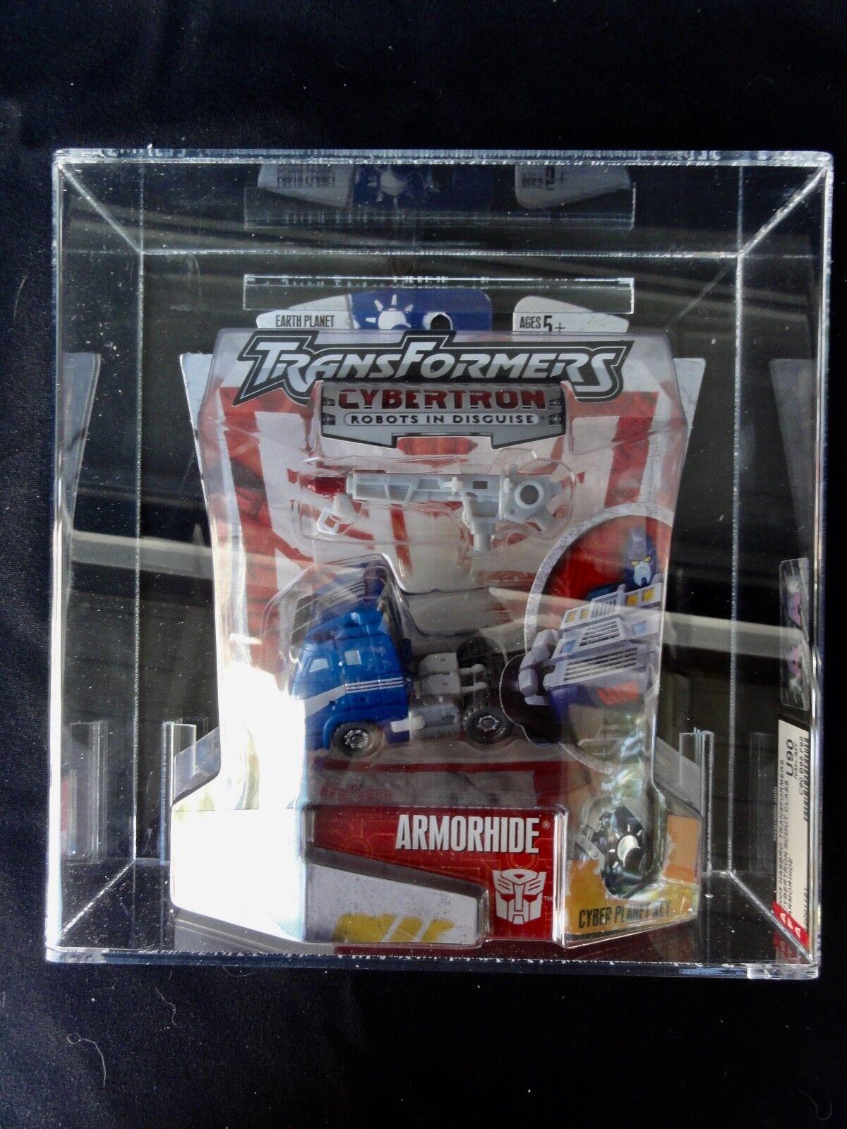 2005 Transformers Transformers Transformers AFA Cybertron Armorhide Tape Sealed MISB MIB BOX 1fa1b0