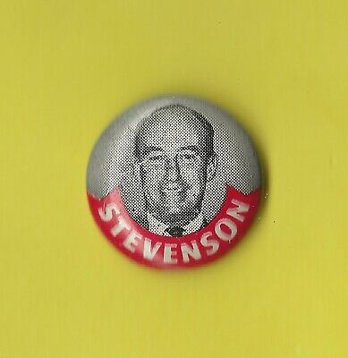 Stevenson Anti Ike Button 1952 Old Bunk In The New Trunk Election Pin MA560